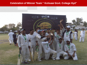 hyderabad team 300x225 All Pakistan Glow Cricket Tournament Concludes