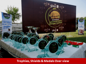 trophies 300x225 All Pakistan Glow Cricket Tournament Concludes