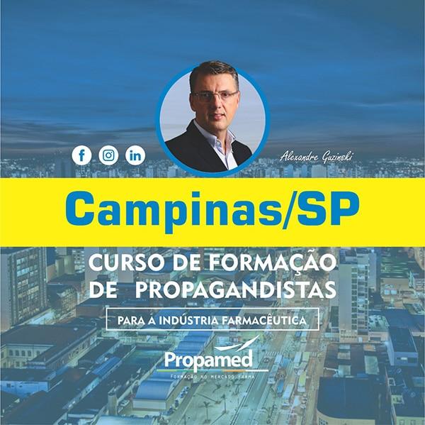 Curso de Formação de Propagandistas - 14/03 e 15/03/2020 - Campinas/SP