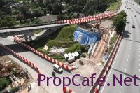 Bandar Tun Hussein Onn MRT Station Construction In Progress