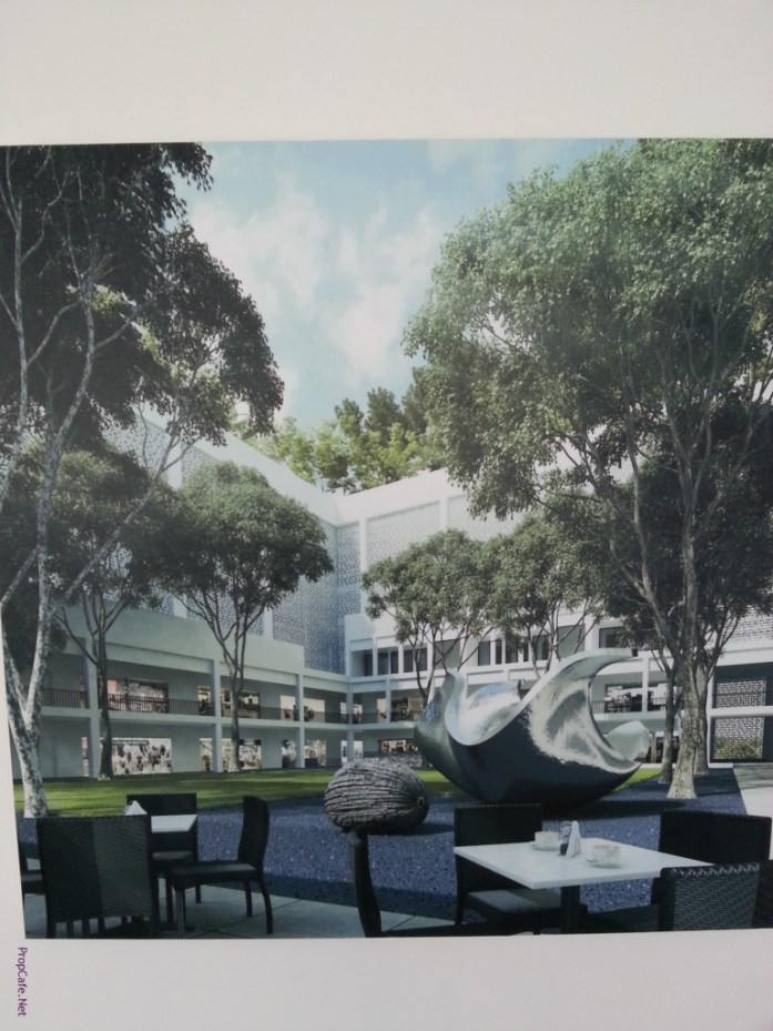 SqWhere - Artists impression of its retails element and common SQUARE garden,