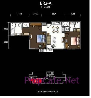 Fraser Place_2 bedrooms