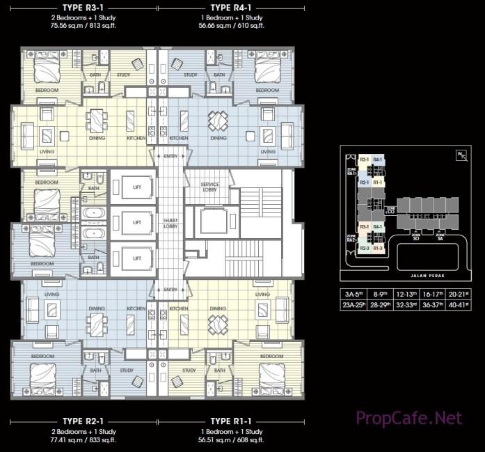 SOHO Suites layout