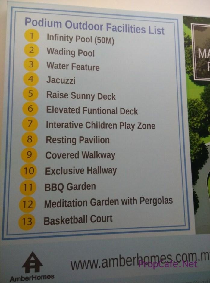 Casa Green Bukit Jalil Facilities List