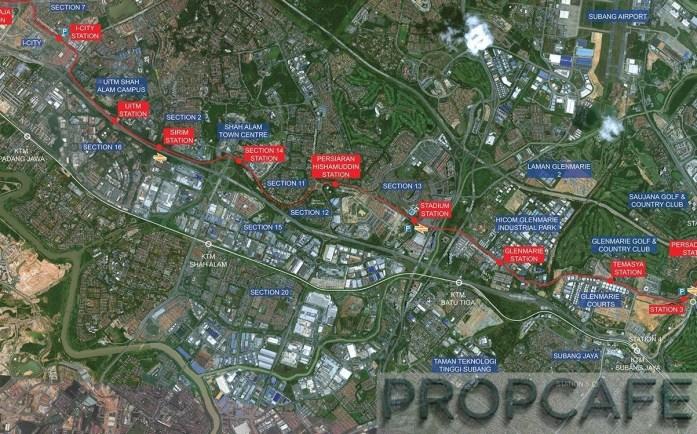 22. Glenmarie station map