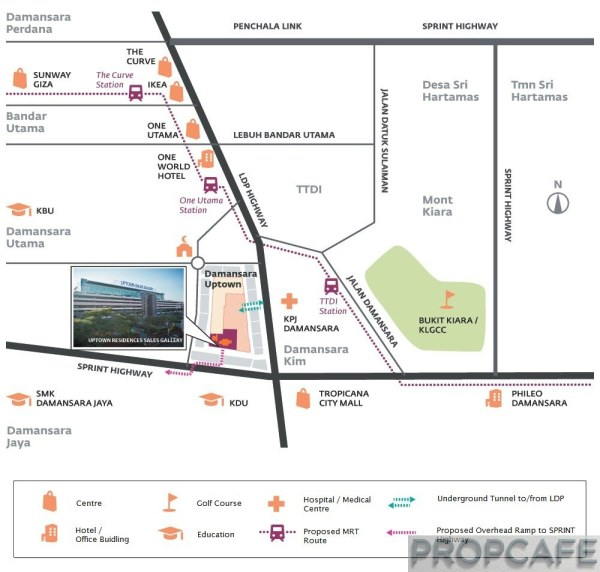 Uptown-residences-map
