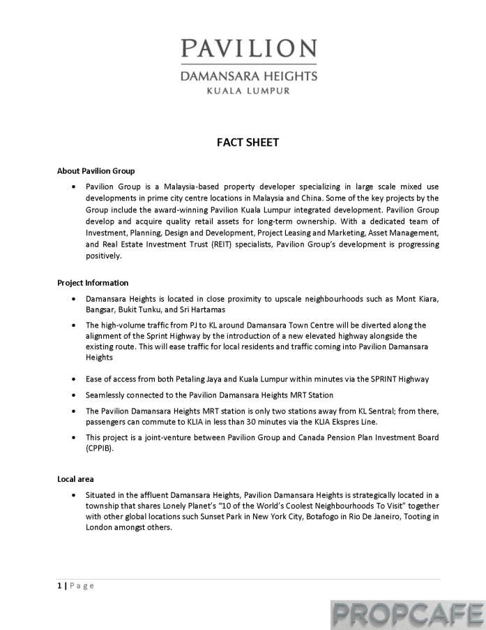 Pavilion Damansara Heights_Factsheet_Page_1