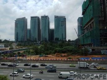 With Bangsar South as backdrop