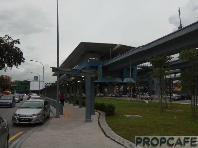 Covered Walkway from MRT along Jalan Mutiara Timur