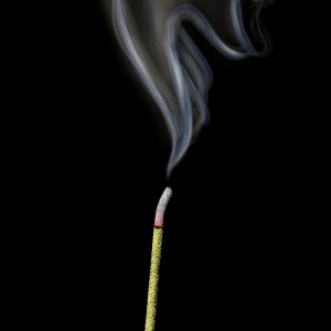 Incense, smoke, illustration