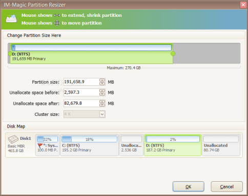 IM-Magic Partition Resizer 3.6.0 with Keygen
