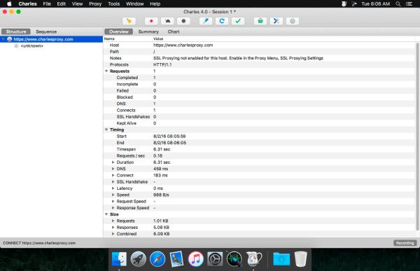 Charles Web Debugging Proxy 4.5.6 Screenshot 1