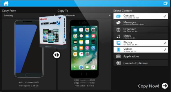 MOBILedit Phone Copier Express 4.6.0.16903 Screenshot 1