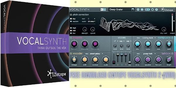 iZotope VocalSynth 2 Crack Keygen Full Version Download
