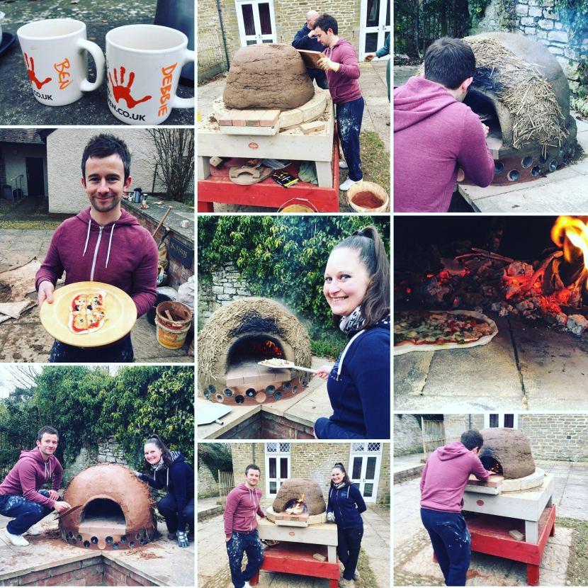 Building a cob pizza oven