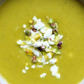 Butternut Squash Soup with Celery and Sage