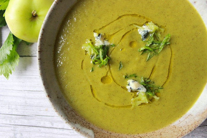 celery and blue cheese soup | ProperFoodie