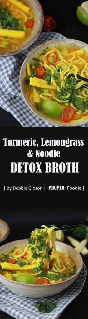 Turmeric, lemongrass & Noodle Detox Broth