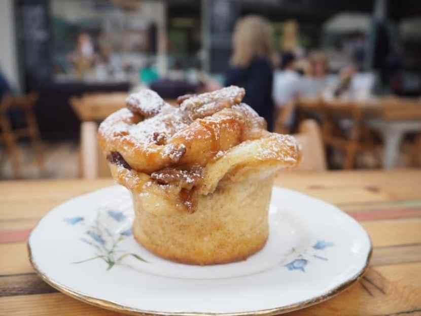 Brunch at Wolfhouse Kitchen sticky maple bun (1)