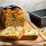 buttered sultana and coconut milk breakfast loaf
