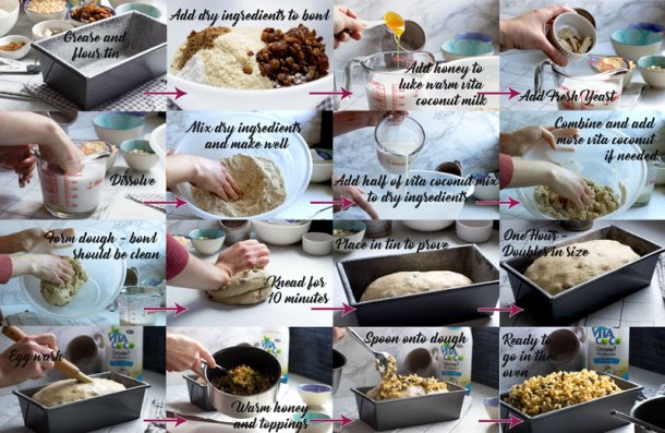 step by step for breakfast loaf