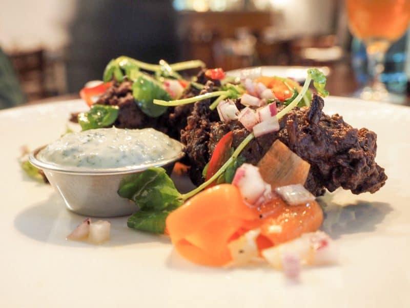 Greens restaurant Manchester Beetroot pakora