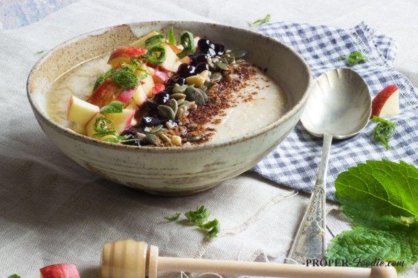 jam and fruit porridge