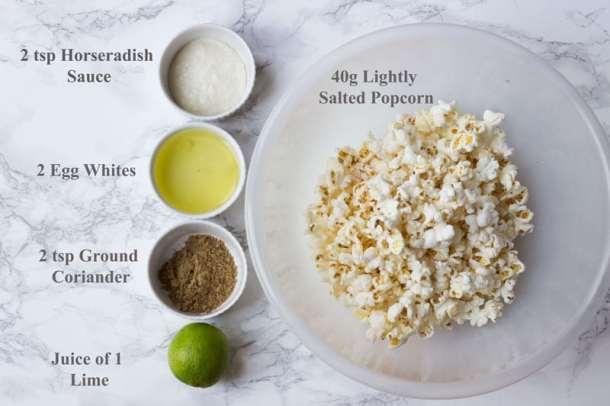 listed ingredients popcorn bites