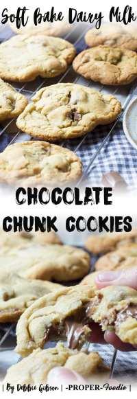 soft bake dairy milk chocolate chunk cookies