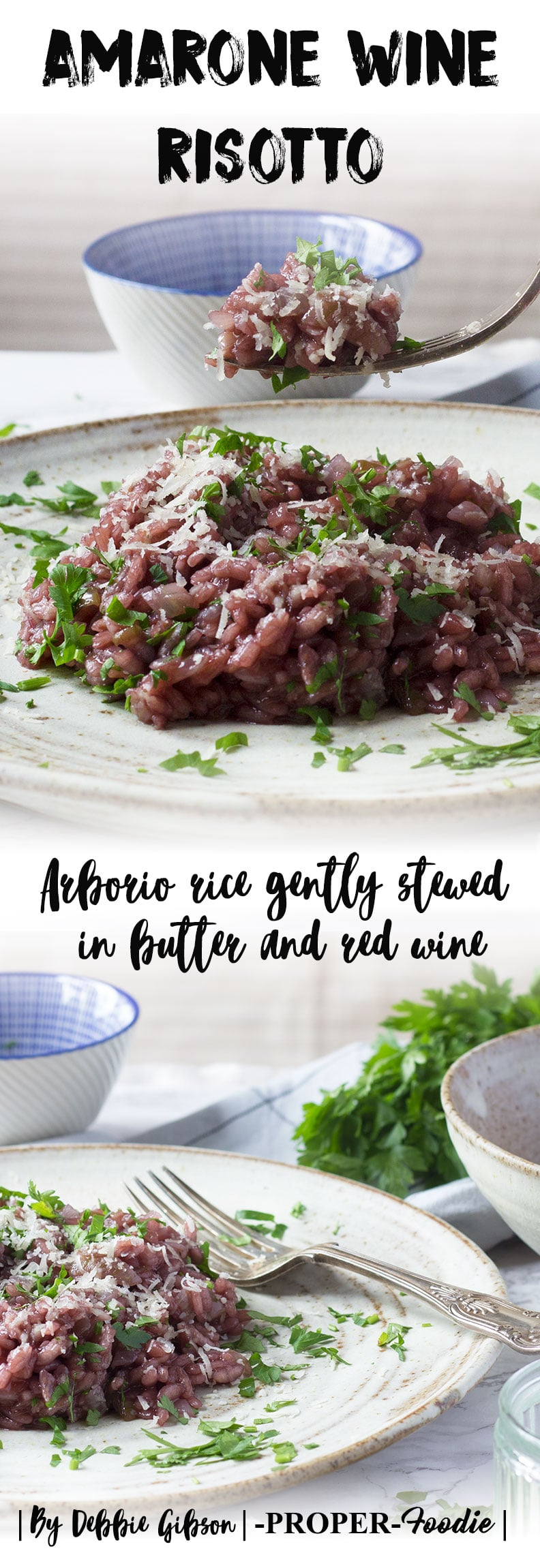 Arborio rice gently stewed in butter and amarone red wine