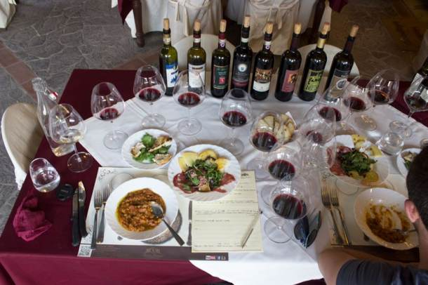 wine tasting torciano