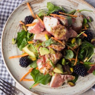 chicken salad with mustard dressing