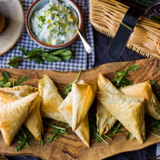 mash potato filo parcels and vale of mowbray pies