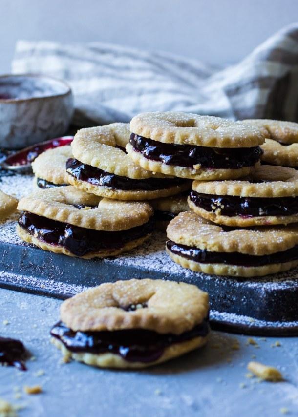blackcurrant jam biscuits scones