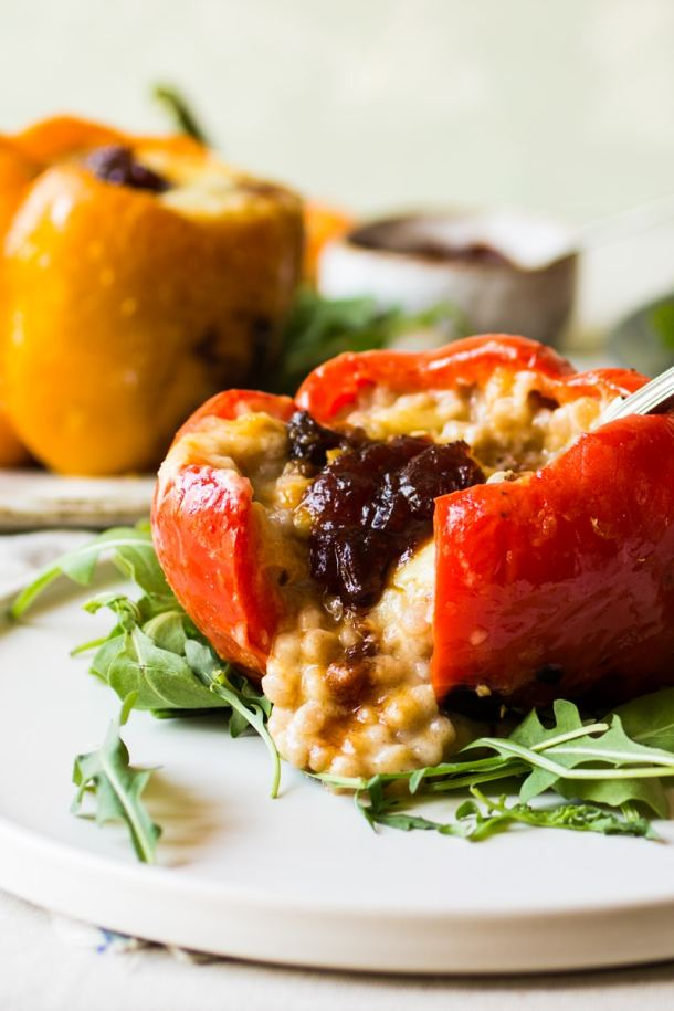 cheesy pepper and couscous with tomato chutney 2