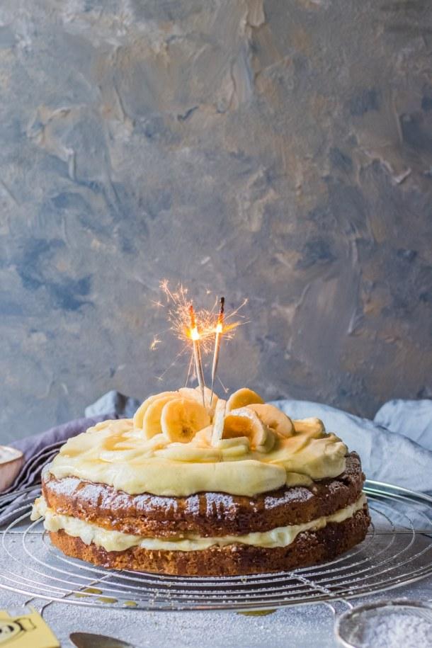Banana Birthday Cake Recipe Video Step By Guide