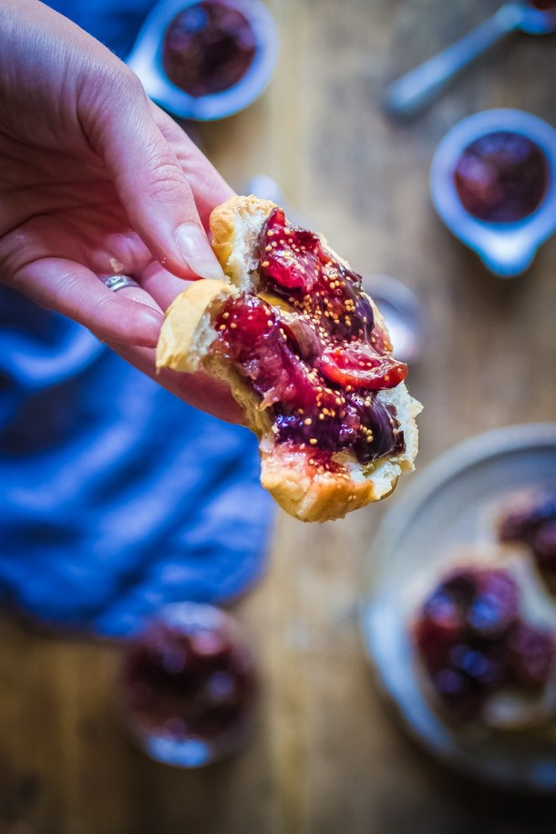 Fig jam and croissants