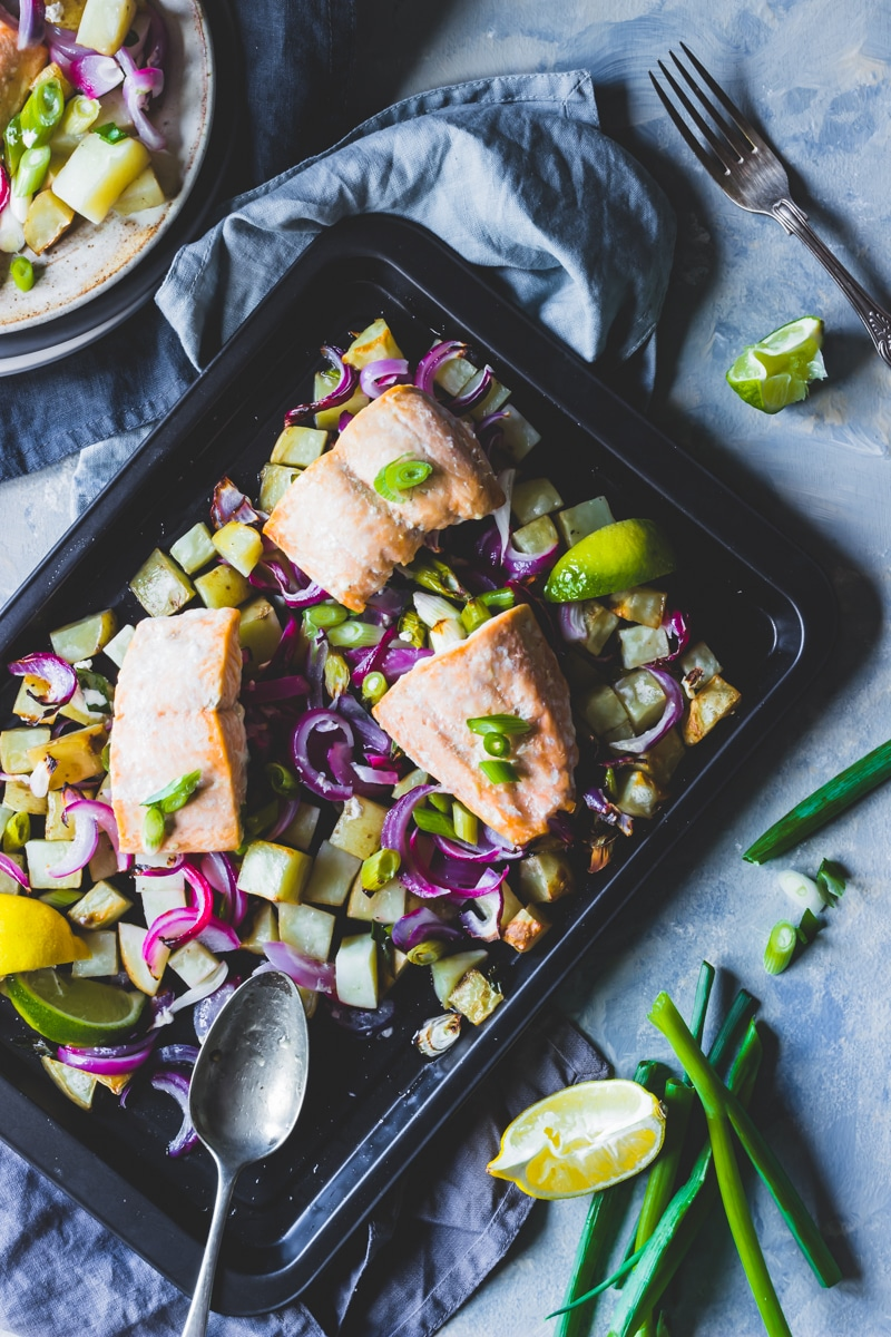 Image for Zoom Media - feed 4 for a fiver campaign - Frozen Salmon and potato traybake