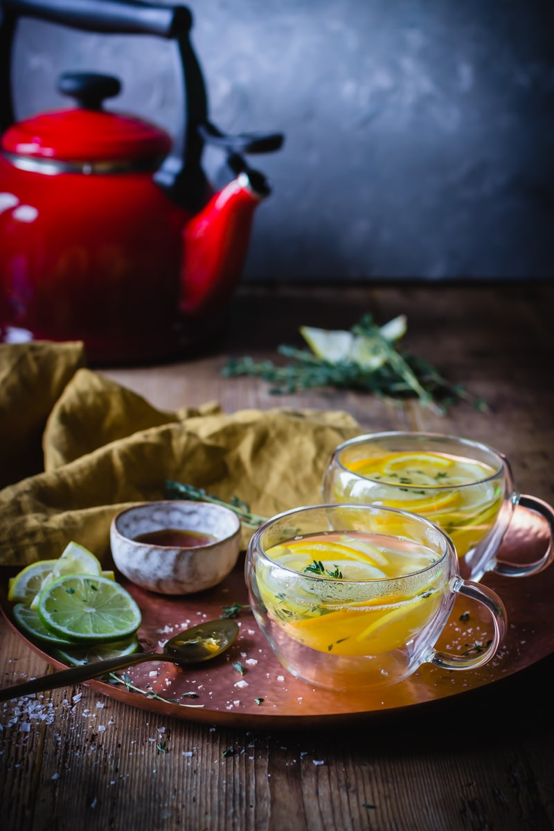 Image for Silver Mushroom - double walled teacups with citrus tea