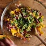 fresh coriander for mango avocado salad