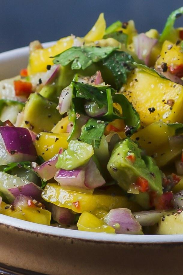 serve mango avocado salad