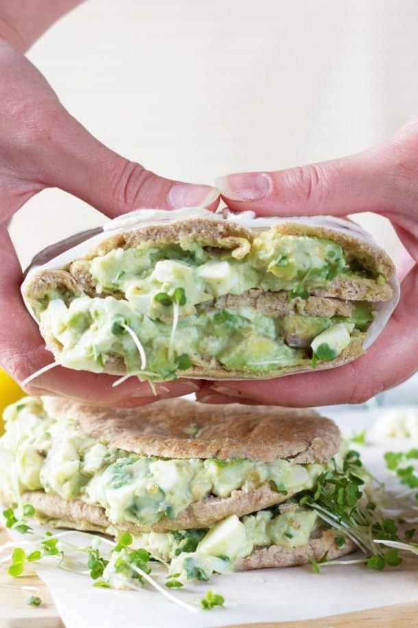 yogurt egg an avocado sandwich