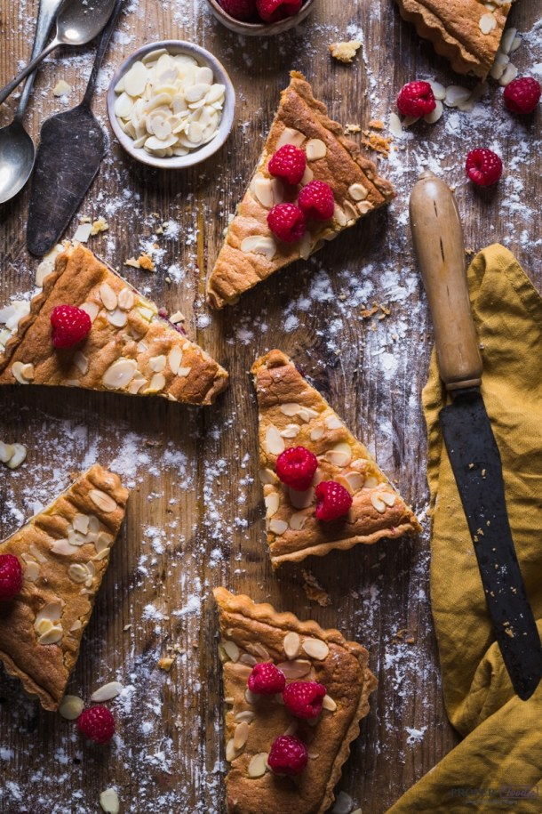 raspberry and almond bakewell