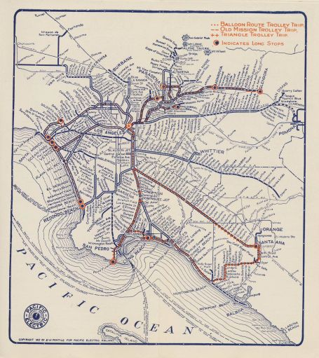 Tramway Map of Greater LA