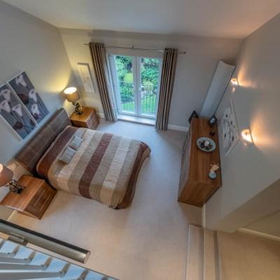 Extended modern home bedroom