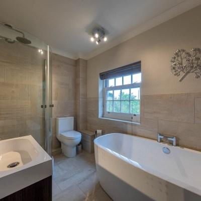 Extended modern home bathroom