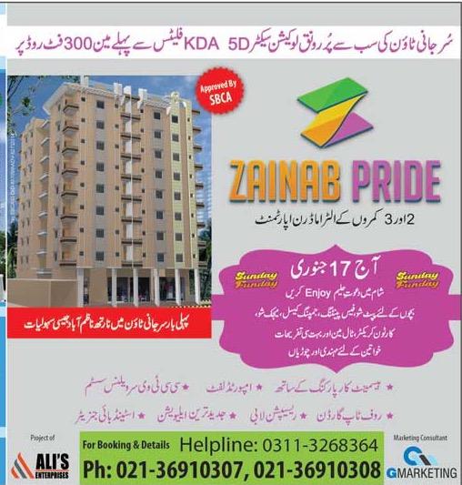 Zainab Pride Apartments Karachi