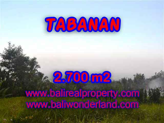 Land in Bali for sale, great view in Tabanan Bali – TJTB128