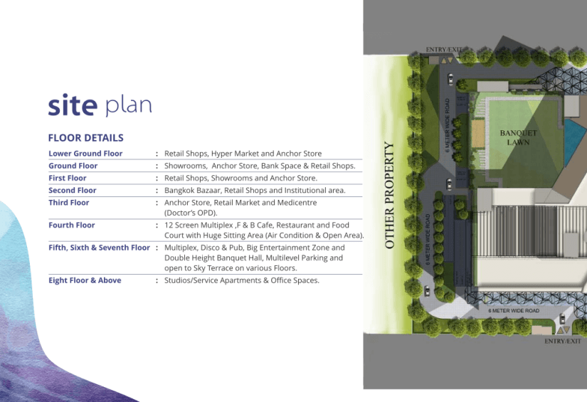 Blue Sapphire Plaza Site Plan Blue Sapphire Plaza shops in noida extension
