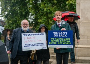 """Renters urge MPs """"we can't go back"""""""